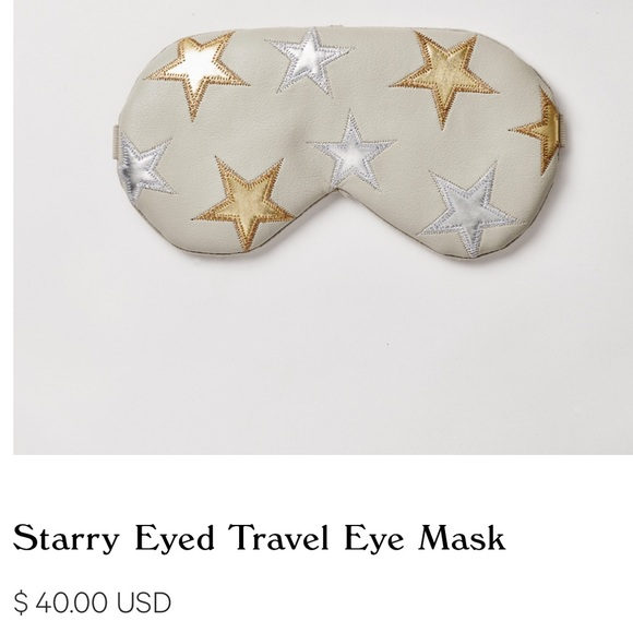 Free People Accessories Understated Leather Eye Mask In Mint Poshmark